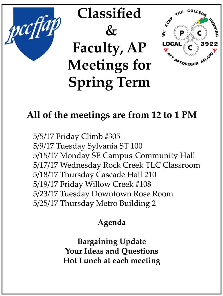 Spring Meetings