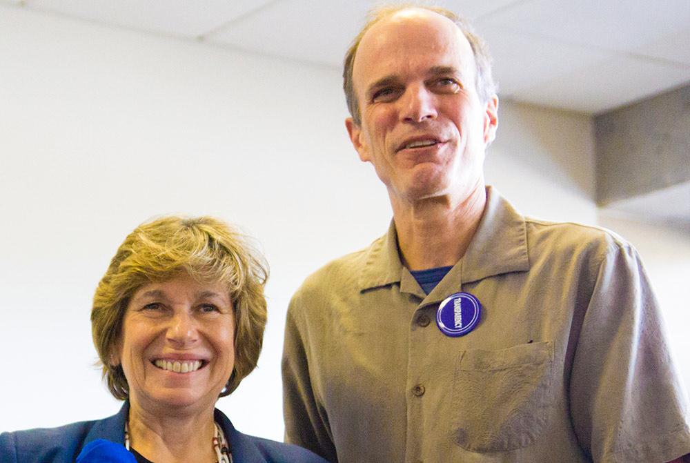 AFT President Randi Weingarten with PCCFFAP President Frank Goulard