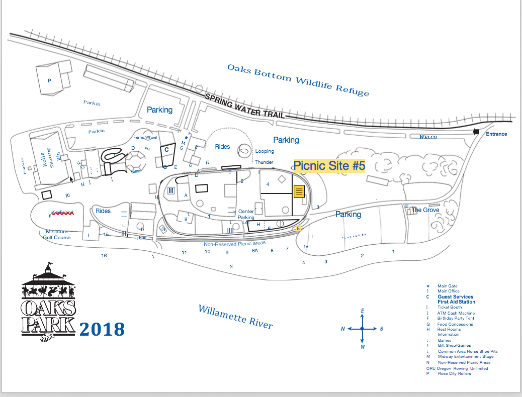 Oaks Park Map